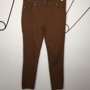 Buffalo Hope mid-rise skinny stretch brown pants